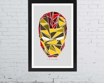 Iron Man Minimalist Poster | 11 x 17 Inches