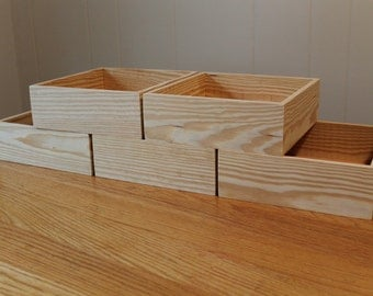"""5 - 9""""x 9""""x 4"""" Boxes.  Unfinished"""
