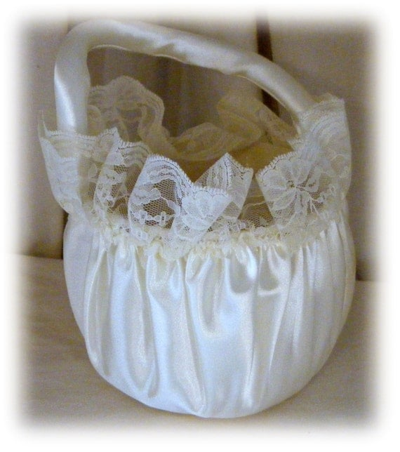 FLOWER GIRL TOTE . . Vintage, Adorable & Never Used