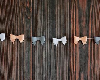 3D Bow Banner Garland