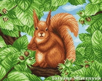 "Cross stitch pattern ""Squirrel"""