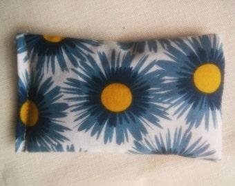 Organic Cotton Catnip Pillow - GOTS certified Organic Cotton - Blue and Yellow by Organic Kitty Land