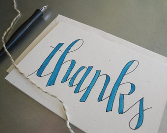 Thank You Cards (set of 8) Handwritten Lettering and Calligraphy by Ink and Anne