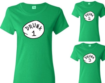 St. patricks day Ladies Shirt Drunk Ladies Tshirt St Patricks Day Inspired Shirt Drunk Shirt~ halloween shirt