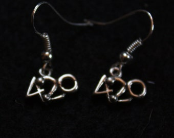 Tea Time is 4:20 - Sterling Silver Earrings