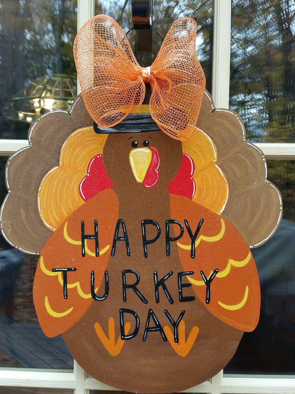 Decorating Ideas > Thanksgiving Door Decoration Turkey Door By MoniLulis On Etsy ~ 070224_Thanksgiving Decorations On Etsy