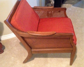 SALE Vintage Mid-Century Cane Chair