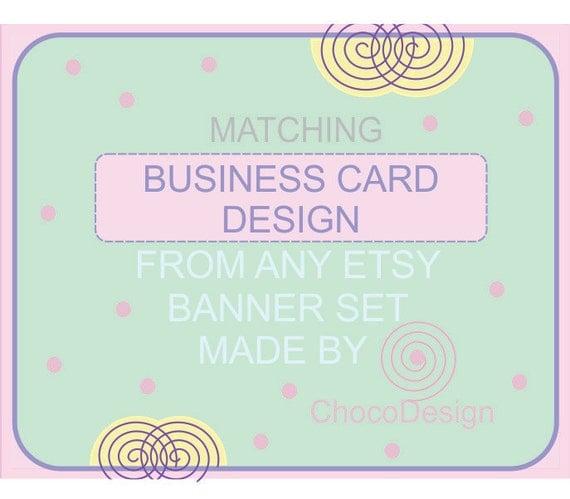 Etsy shop banner set business card design by chocodesign for Etsy shop business cards