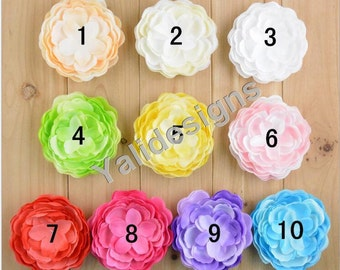 U Pick! 9CM 3.5'' inch Wholesale Emulational Peony Flower DIY Fabric Flower Headdress DIY Fabric Headband Accessories-Mixed Color-YTA53