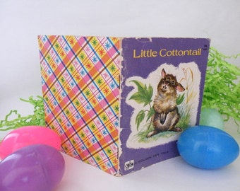 Little Cottontail, A Golden Tiny Tale, Golden Press, 1960 Western Publishing, USA, Written by Carl Memling, Vintage, Easter Basket, Crafts
