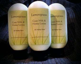 Lemongrass Goat Milk & Honey Lotion