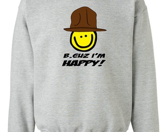 B_Cuz I'm Happy - Crewneck - Sweatshirt
