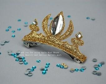 Frozen Elsa Sparkling Crown Hair Clip/Disney Hair Clip//Disney Hair Pin/Princess hair Clip/Kids Hair Clip