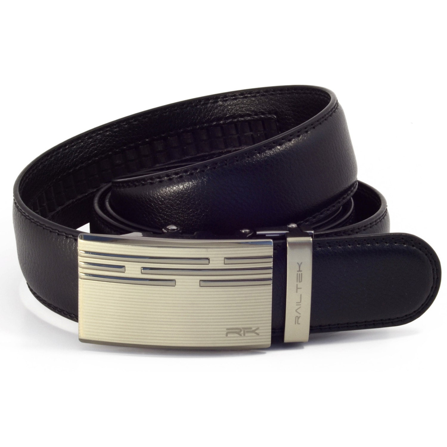 s leather ratchet belt zinc
