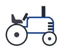 Tractor Applique Machine Embroidery Design, Tractor Applique, Farm Equipment, Farm Embroidery, Filled stitch, 4X4 5X7 6X10, Instant download