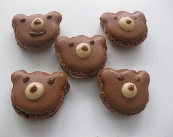 French macarons, 6 bear macarons, birthday macarons, French confections, ottawa macarons, order macarons online, birthday gift, bear cookies