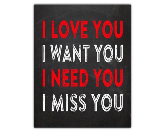 I Want You I Need You I Love