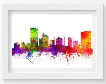 Toledo Ohio Skyline In Color Poster, Home Decor, Gift Idea 02