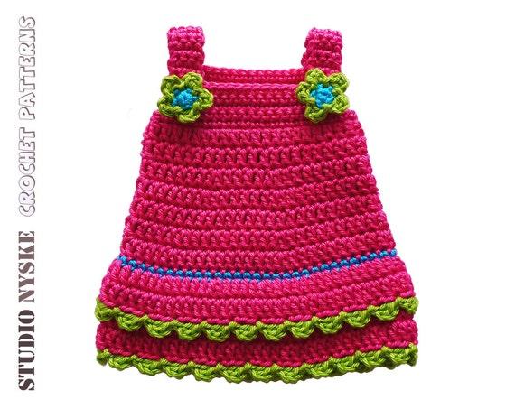 Amigurumi Clothes Pattern : Doll clothes GIRL crochet PATTERN LARGE 3 dress by StudioNyske