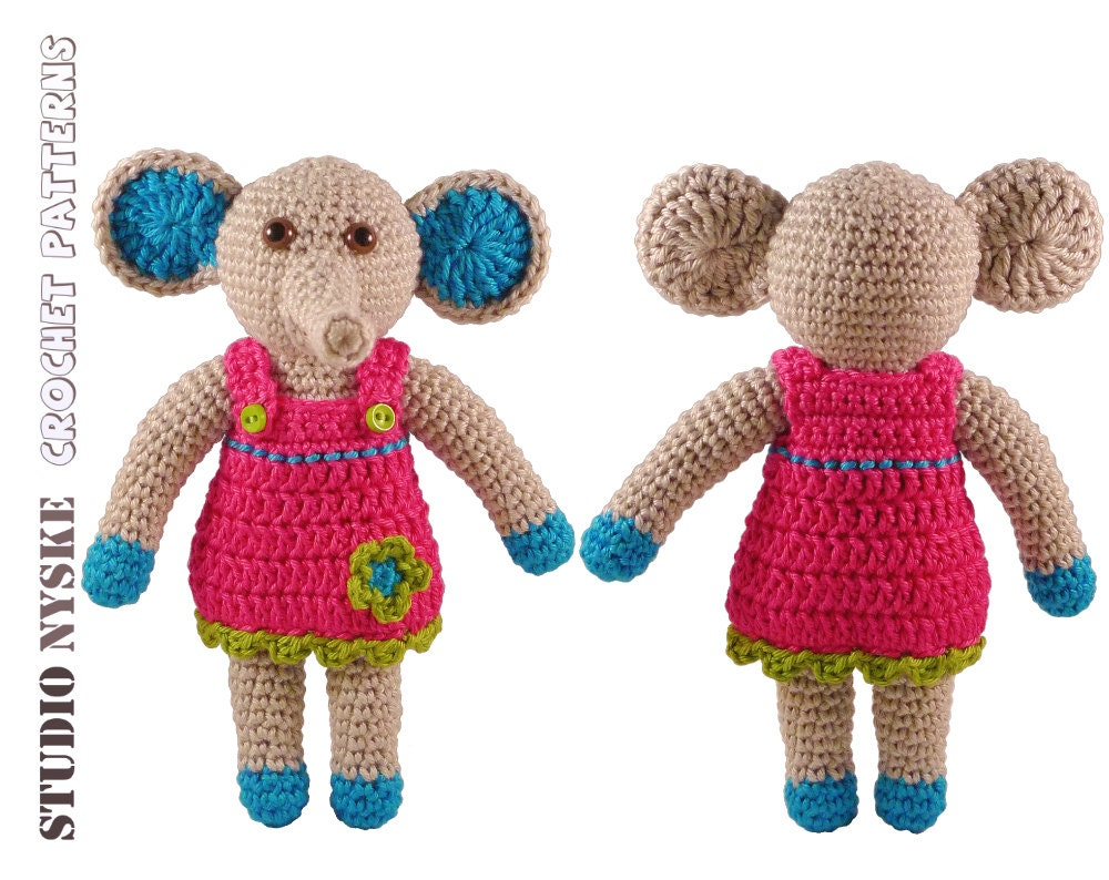 Baby shower gift GIRL crochet PATTERN amigurumi by StudioNyske