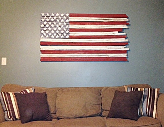 Wood Flag Wood Wall Flag Wood Wall Hanging Wood Wall By