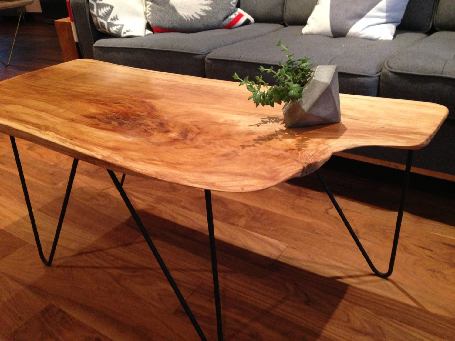 Live Edge Birch Coffee Table Mid Century Modern By Coolwoodbc