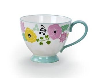 Ceramic Floral Tea Cup