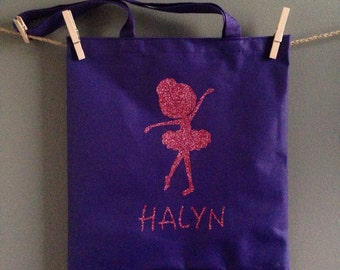 Dance Bag/Tote, Ballerina Bag/Tote, Personalized Dance Bags, Any Color Available