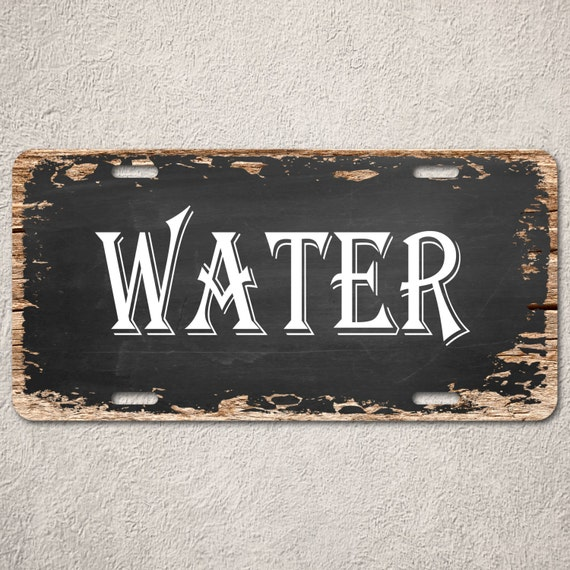 Wood Car Water : Lp water sign vintage wood rust chalkboard auto by