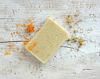 Calendula Chamomile Soap. Facial Soap. Sensitive Skin. Men Women. Spa. Unscented Soap. Vegan Soap. 100% Natural. Organic Soap.
