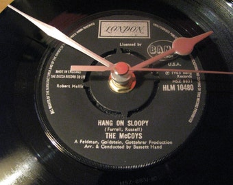 "The McCoys hang on sloopy  7"" vinyl record clock"