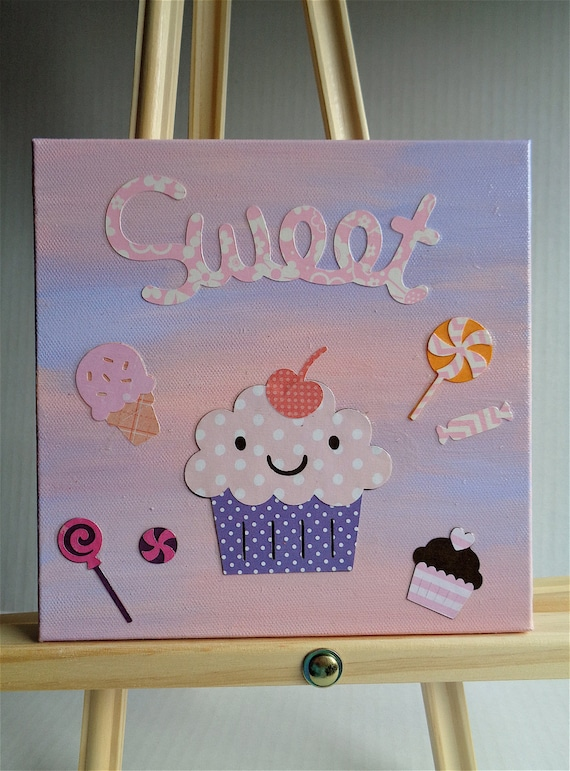 Sweet cupcake children 39 s hanging wall art home by for Cupcake wall art