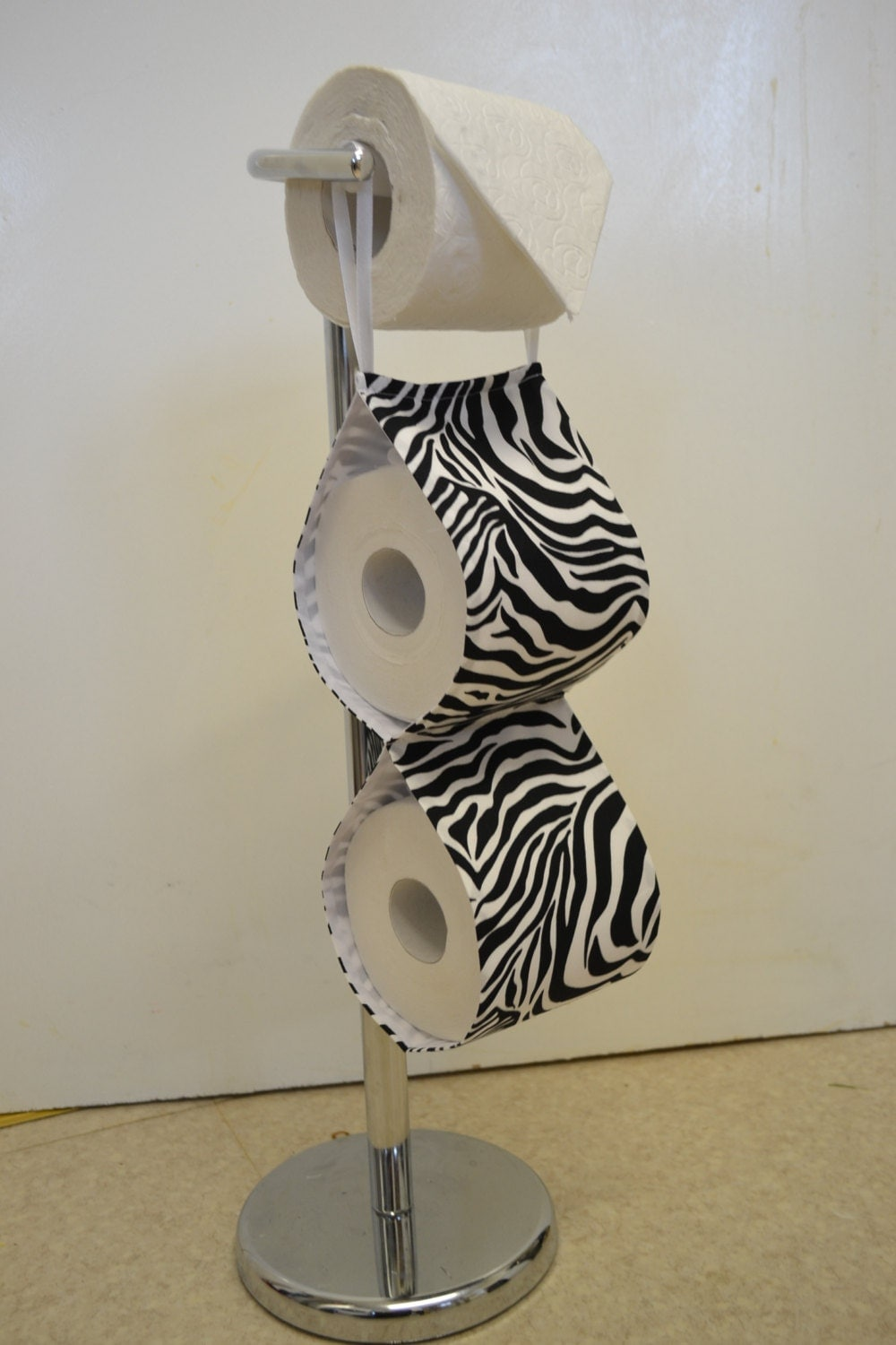 Fabric Decorative Toilet Paper Holder Zebra Handmade