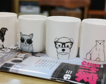 Custom  made pet mug - Hand painted animal mug cup - Personalized mug - Painting dog cat animal pet lover painting unique handmade gift idea