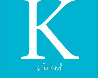 K - Initial Print
