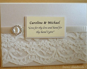 Handmade Elegant Lace Wedding Invitations