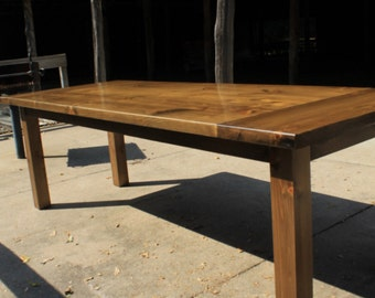 Minimalist Harvest Table / Farmhouse Table / Farm Table / Harvest Table / Rustic Table / Dinning Table