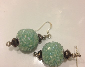 FREE SHIPPING!!! Mint green Sparkly Dangles 11