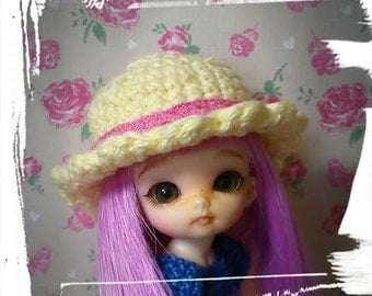 crochet sun hat for puki puki style doll