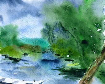 Professional watercolor print, A4. Painted in Trakai, Lithuania.