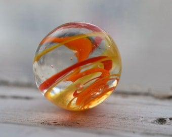 orange swirl marble