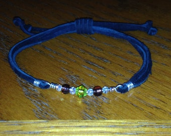 Adjustable Leather Cord with Beads