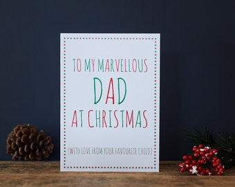 Marvellous Dad Christmas card