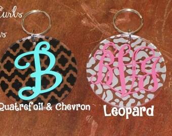 """Personalized 3"""" Circle Acrylic Key Chain"""