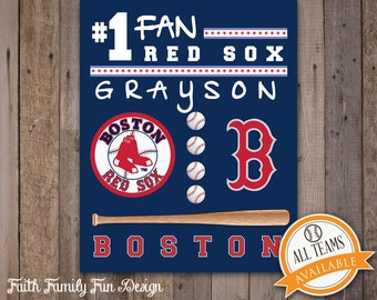 Items similar to baseball mitt leather first baseman lhc for Boston red sox bedroom ideas