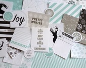 EASON GIRL: WINTER. mini kit - A digital scrapbooking kit, perfect for project life, pocket pages and smash