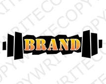 Five Dollar Logo, Premade Logo, Personal Trainer logo, Customize your business name, Digital PDF and PNG file,
