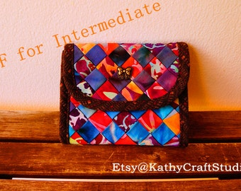 Handmade Sewing Fabric billfold wallet Pattern--Great for intermediate level-- PDF Instant download