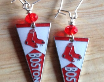 Red Sox Pennant Earrings