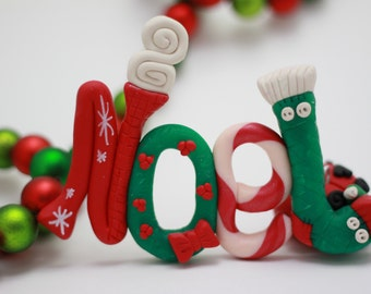Name, Letters, or Initials Christmas Ornament